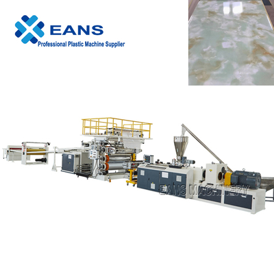 Complete set PVC marble sheet making machine with PLC control